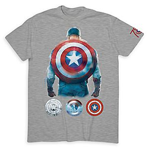 Captain America 75th Anniversary Tee for Men - Limited Release