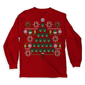 Marvels Avengers Ugly Holiday Long Sleeve Shirt for Kids - Limited Release