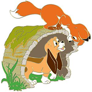 Young Tod and Copper The Fox and the Hound Pin