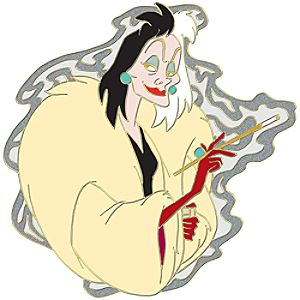 One Hundred and One Dalmatians Cruella De Vil Pin
