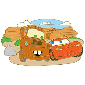 Lightning McQueen and Mater Cars Pin
