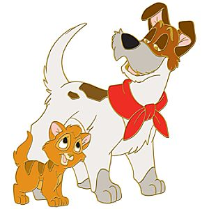 Oliver and Company Pin -- Oliver and Dodger