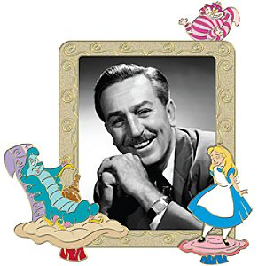 Alice in Wonderland Walt Disney Portrait Pin