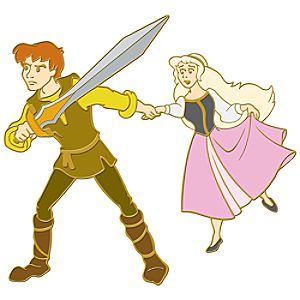 110th Legacy Collection The Black Cauldron Pin -- Taran and Princess Eilonwy