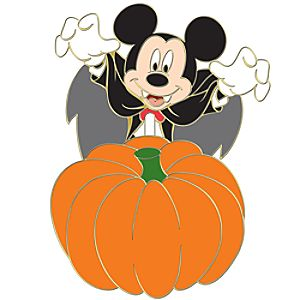 Halloween Vampire Mickey Mouse Pin