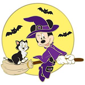 Halloween Figaro with Witch Minnie Mouse Pin