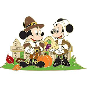 Minnie and Mickey Mouse Thanksgiving Pin