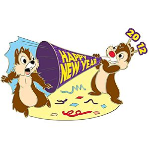 New Years Eve Chip an Dale Pin