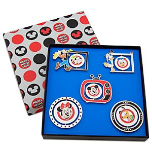 Limited Edition Mickey Mouse Club Spinner Pin Set -- 5-Pc.