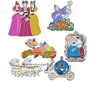 Limited Edition Classic Cinderella Pin Set -- 5-Pc.