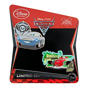 Cars 2 Pin Set: Finn McMissile and Francesco Bernoulli -- Limited Edition of 350