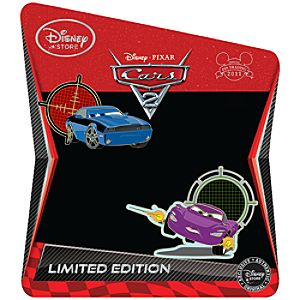 Cars 2 Pin Set: Holley Shiftwell and Rod Torque Redline -- Limited Edition of 350