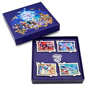 Disney Store 25th Anniversary Character Collectors Pin Set -- 4-Pc.