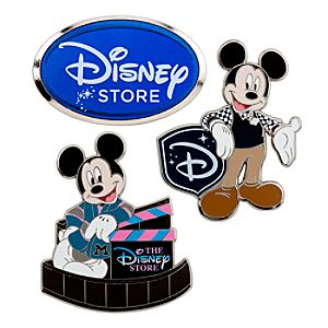 D23 Exclusive 25th Anniversary Disney Store Mickey Mouse Pin Set -- 3-Pc.