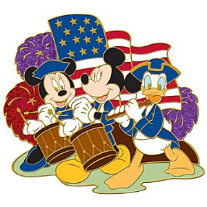 Patriotic Mickey and Friends Pin