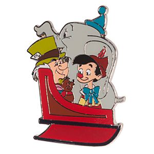 Mad Hatter and Friends Holiday Sleigh Pin - D23