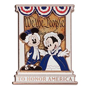 Mickey and Minnie Mouse Constitution Pin - D23