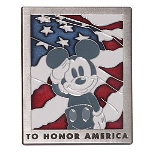 Mickey Mouse Old Glory Pin - D23
