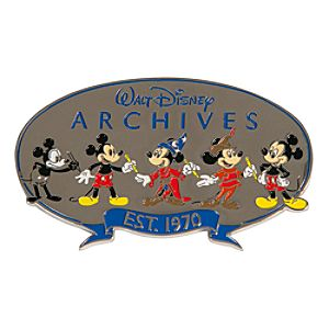Mickey Mouse Walt Disney Archives Logo Pin - D23