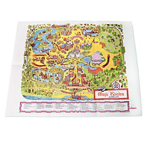 Walt Disney World Magic Kingdom 1971 Map - D23