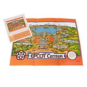 EPCOT Center 1982 Map with Envelope - D23