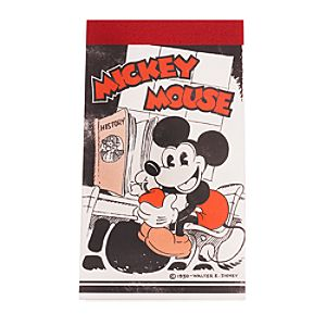 Mickey Mouse Reproduction Vintage 1930 Writing Tablet - D23