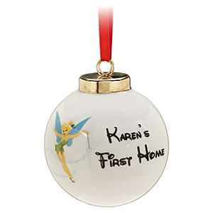 Personalizable Porcelain Tinker Bell Ornament
