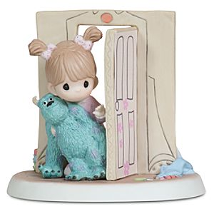 """Everything Is Less Scary with a Friend"" Disney Girl with Sulley Figurine by Precious Moments"