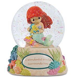 A Wonderful World Surrounds You Ariel Musical Water Globe by Precious Moments
