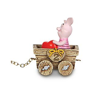 2nd Birthday Train Piglet Figure by Precious Moments