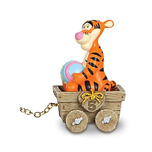 5th Birthday Train Tigger Figure by Precious Moments