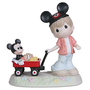 Mickey Mouse and Boy with Wagon Figurine by Precious Moments