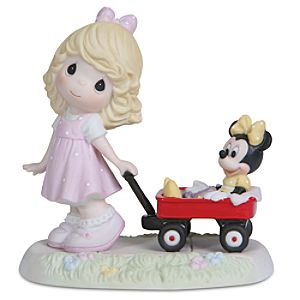 Minnie Mouse and Girl with Wagon Figurine by Precious Moments