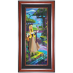 Limited Edition Disney Fine Art Pop! The Caressing Forest Sleeping Beauty Giclée on Canvas