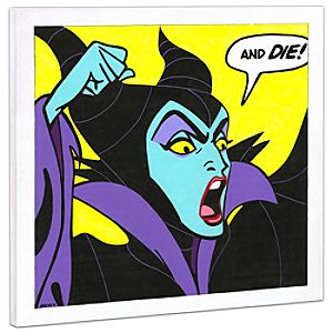 Limited Edition Disney Fine Art Pop! Birthday Wishes Maleficent Giclée on Canvas
