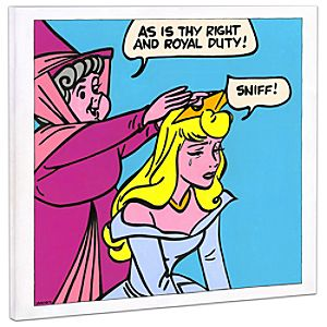 Limited Edition Disney Fine Art Pop! Suck It Up Sleeping Beauty Giclée on Canvas