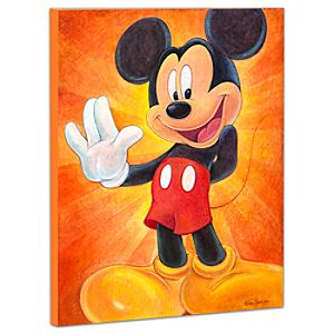 Limited Edition Disney Fine Art Pop! Hi, Im Mickey Mouse Giclée on Canvas