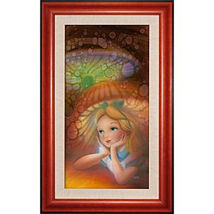 Limited Edition Disney Fine Art Legacy Wondering Alice in Wonderland Giclée on Canvas