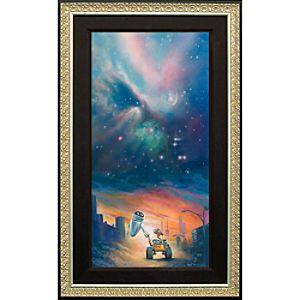 Limited Edition Disney Fine Art Legacy The Depth of Space and Love Wall•E Giclée on Canvas