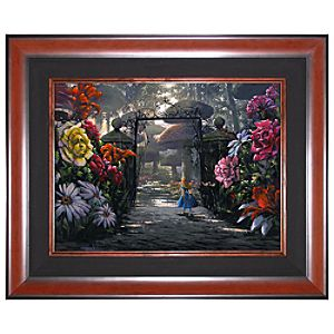 Limited Edition Disney Fine Art Legacy In the Garden Alice in Wonderland Giclée on Canvas