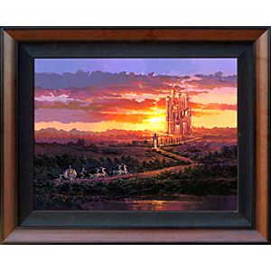 Limited Edition Disney Fine Art Legacy Castle at Sunset Cinderella Giclée on Canvas