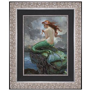 Limited Edition Disney Storytellers At Odds With The Sea Ariel Giclée on Canvas
