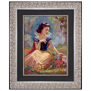 Limited Edition Disney Storytellers Gathering Flowers Snow White Giclée on Canvas