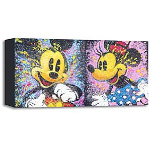 Happy Go Mickey and Minnie Giclée by Stephen Fishwick