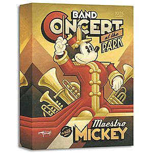 Maestro Mickeys Band Concert Giclée by Mike Kungl