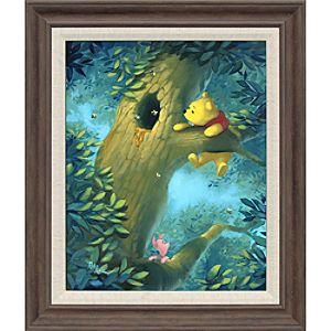 Winnie the Pooh Curious Bear Giclée by Rob Kaz
