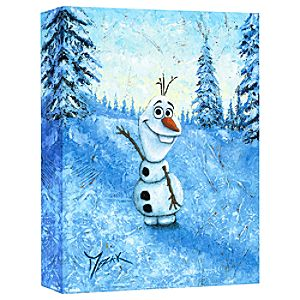 Olaf ''Hello I'm Olaf'' Giclée on Canvas by Trevor Mezak