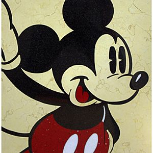 Mickey Mouse Stone Art