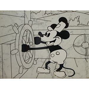 Steamboat Willie Stone Art