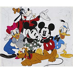 Mickey Mouse and Friends Stone Art